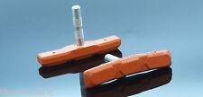 A sbalzo & V Freno Scarpe Blocco Pad MTB Arancione POST Fit 70mm Fibrax 4 PAIA