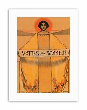 SUFFRAGE WOMEN VOTES Picture Vintage Political Canvas art Prints