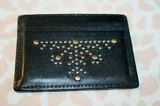 Mens/Womens Designer Burberry Real Black Leather Card Case Credit Cards Wallet