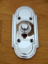 CHROME  ART DECO DOOR BELL PUSH DOORBELL KNOCKER HANDLES KNOBS