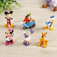 6X Mickey Mouse Clubhouse action Figure Set Minnie Toy Cake Topper Boy Girl Toy
