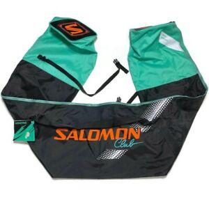 Vintage 90s Salomon Club Ski Bag Black Green