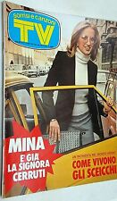 "TV Sorrisi e Canzoni n.15/1975 con in copertina ""Mina è la signora Cerruti"""