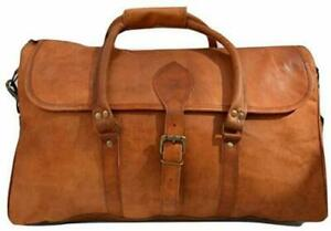 GENUINE BEST SELLER LEATHER HOLDALL TRAVEL WEEKEND CABIN SPORTS DUFFEL BAG TAN