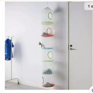 Ikea Mesh Hanging Childrens Storage Organizer 6 Tier Tower Castle Blue,