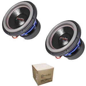 "2 x American Bass 12"" HD Series 8000W Dual 1 Ohm Subwoofer HD12D1-V2"