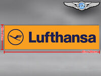 OLD LUFTHANSA LOGO RECTANGULAR DECAL / STICKER