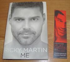 Ricky Martin SIGNED 1st ed HC Book with Promotional Bookmarker! FREE US SHIPPING