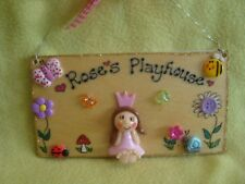 3d Personalised Princess Playhouse Wendy House  Sign Treehouse Mother's Day
