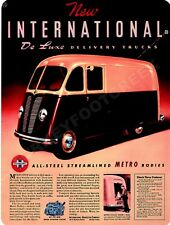 """INTERNATIONAL DELUXE DELIVERY TRUCK  9"""" x 12"""" Sign"""