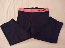 Womens Nike Pants S Small Black Athletic Pro Combat