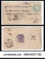 INDIA - 1905 1/2a KEDVII REGISTERED old envelope to CAWNPORE with 1 KEDVII STAMP