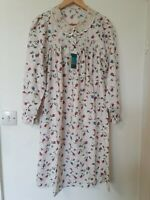 Vintage St Michael Victorian Style Floral Crochet Nightdress Nightie Size 12 14