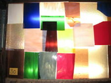 4+ SQUARE FEET STAINED GLASS #30 MIXED COLOR TEXTURE SCRAP SHEET PROJECT MOSAIC