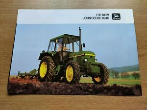 JOHN DEERE TRACTORS THE NEW 2040 COLOUR FARMING TRACTOR BROCHURE PRE USED VGC