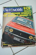 Magazine L'Automobile 303 Polski Fiat 125P Renault 17 Simca 1100S