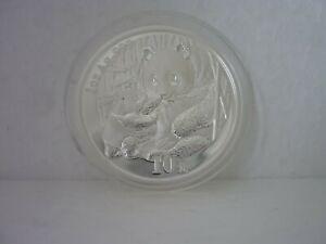 10 Yuan China 2005 Panda 1Oz 999 Silber mit Zertifikat
