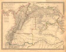 """Amazonia. che mostra """"El Dorado?"""", missioni & Tribù. il Brasile Ecuador. SDUK 1846 Mappa"""
