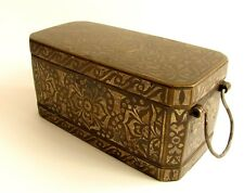 New listing Antique Silver Inlaid Bronze Betel Nut Box (Lutuan) Philippines Early 20th Cent.