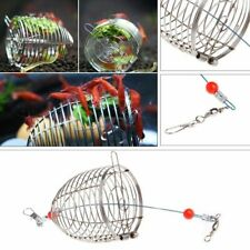 Aquarium Shrimp Feeder Steel Cage Small Dry Bait Stainless Fish Tank Food Pellet