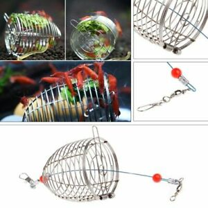Aquarium Shrimp Feeder Steel Cage Small Dry Bait Stainless Fish Tank Food Pellet