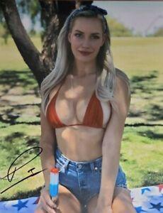 Paige Spiranac Signed 8x10 Photo W/ Holo COA