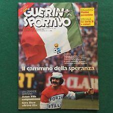 GUERIN SPORTIVO n.22/1982 con INSERTI ALBI MUNDIAL ITALIA + JUNIOR ASTON VILLA
