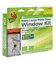 Duck Brand 282450 Indoor Extra Large Window/Patio Door Shrink Film Kit, 84Inch