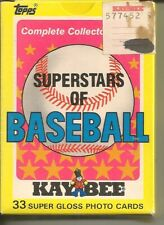 1989Topps KayBee Toys Superstars of Baseball Complete 33 Card Set - Mint Cards