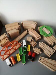 IKEA Wooden Train Track Bundle Approx. 100 Pieces BRIO Thomas, ELC Compatible
