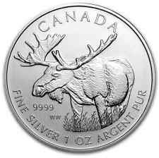5 dollars 2012 Elan Canada 1 Once d'Argent pur .9999 pièce ounce oz Lingot 5$CAD