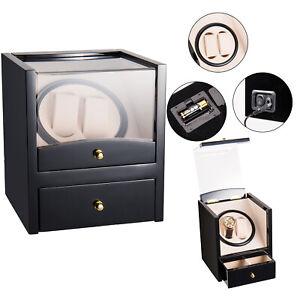 2+2 Dual Automatic Rotation Watch Winder Box Silent Motor Watch Luxury Storage L