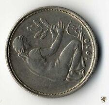 BRD, 50 Pfennig, 1950 G, 90 Grad Stempeldrehung, Jg. 384, sehr schön