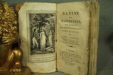 Antiguo Francés Libro 1802 nanine de Manchester