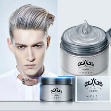Men Women Professional Silver Grey Hair Wax Hair Pomades Natural Hairstyle Wax