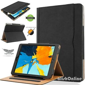 """Leather Case For iPad 10.2"""" 2020-2019 8th/7th Air 3 10.5""""  Smart Flip Cover"""