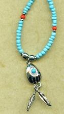 Halskette Necklace Bearclaw  Feder Indianer Western Indianerschmuck