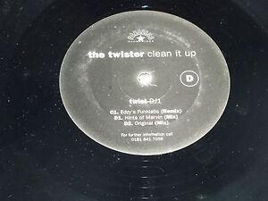 "THE TWISTER - Clean it up - UK 3-track 12"" DJ PROMO Vinyl Single"