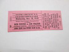 11/18/1970 Ticket of Joe Frazier vs  Bob Foster Boxing Match