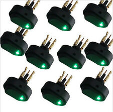 Lot10 Heavy Duty Green LED OFF/ON Rocker Switch 12V 30Amp 30A  Car Boat New