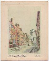 The Cinque Port of Rye Sussex England c90 Y/O Ad Trade Card