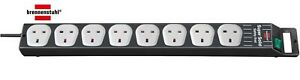 Brennenstuhl Super-Solid 8 Socket Extension Lead 2.5 Metre Extension Cable Black