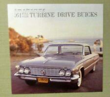 Vintage 1961 BUICK SALES BROCHURE Full Turbine Drive Buick Armor Birds Men Women