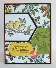 Handmade HAPPY BIRTHDAY WISHES card kit of 4 made w/ Stampin Up