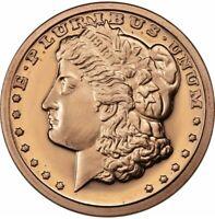 Lot of (5) Five Morgan Dollar Copper Bullion Rounds Coins Set - 1/4oz - A