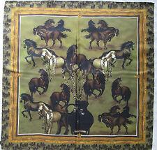 "-Superbe  Foulard S.T.I.F.F  ""CHEVEAUX "" 100% soie  TBEG vintage scarf"