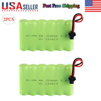 2pcs Rechargeable 7.2V 700mAh Battery Pack w/ SM Plug For 4WD RC Car Truck Toy