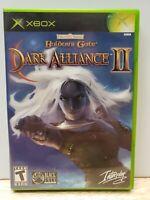 Baldur's Gate: Dark Alliance II 2 (Microsoft XBOX, 2004) - Complete w/ Manual