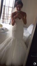 James Madison Allure Wedding Dress MJ17  Ivory Size 8/10 Kleinfelds Pronovias