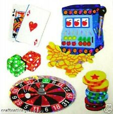 Sandylion Glittery CASINO CARDS Scrapbooking Mini Stickers. F02